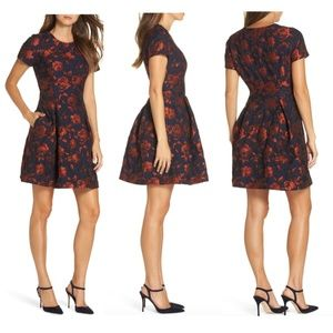 NEW Vince Camuto Jacquard fit & flare dress 12